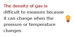 Density measurement facts 10
